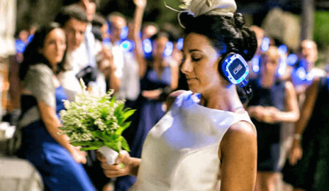 "Experience a ""Quiet"" Wedding Reception With Silent DJ/ Band"